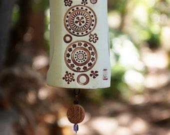 Wind Chime Handmade Garden Bell Backyard Chimes, Unique Porcelain Garden Art Decor Birdie Sculpture Birthday Gift Idea For Her - IN STOCK!