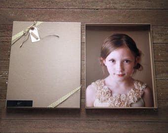 Photography Boxes for 8x10 prints - Recycled Kraft   Set of 20 Recycled Brown Boxes, Presentation Box, Folio Boxes, Art Presentation, Print