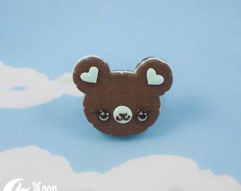 Schoko-Cookie Bär   Ring   Sweet Lolita Mode   Kawaii Bär   Mint