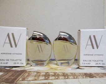 AV by Adrienne Vittadini eau de toilette, miniature 7.5 ml bottle, new in box