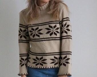 Icelandic sweater, hippie sweater
