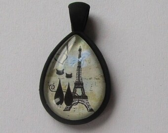pretty pendant shape drop of black color with cat's,
