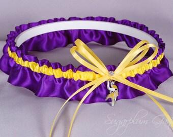 Minnesota Vikings Wedding Garter - Ready to Ship