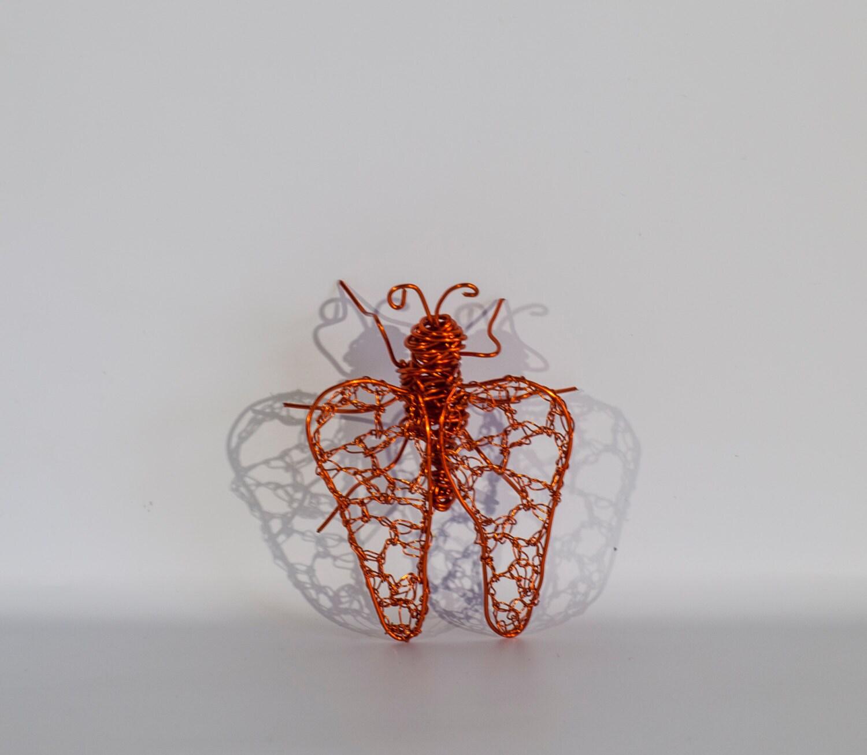 Marienkäfer Insekten Dekor Kupferdraht Kunst Skulptur