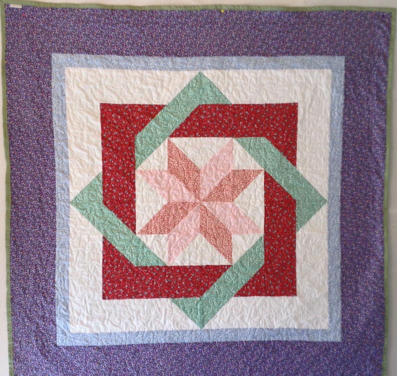 Geometric Design Quilt Labyrinth Quilt Wall Quilt Throw