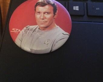 Vintage Pin Button-Star Trek The Motion picture Captain James T Kirk