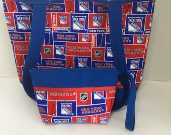 New York Rangers Quilted Purse - Quilted Tote - Rangers Tote - Rangers Wallet - Shopping Bag - NHL Purse - NHL Tote - Shoulder Bag