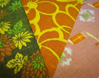 Vintage Japanese kimono fabric pack for craftwork patchwork quilting VP19