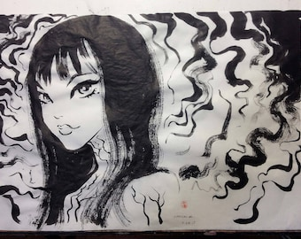 "Inktober Day 28 ""Tomie"" Original Art"