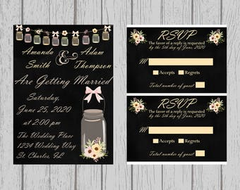 Wedding Invitation & RSVP Set