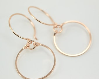 Rose Gold Filled Earrings | Small Hoop Earrings | Everyday Earrings | Simple Earrings | Small Hoops