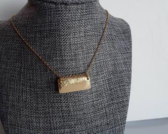 Summit // Ivory Necklace | Gilded |Minimalist | Natural