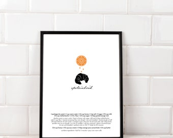Recipe Art - Orange Rolls