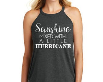 Sunshine Mixed With A Little Hurricane Tank, Summer Tank, Summer Halter, Concert Tank