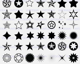 Stars svg - Stars svg clipart - Stars vector - Stars clipart - Stars digital clipart for Design or more,file download svg, png, dxf