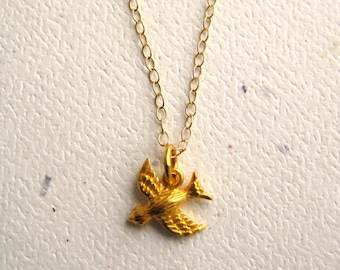 Golden Songbird Necklace