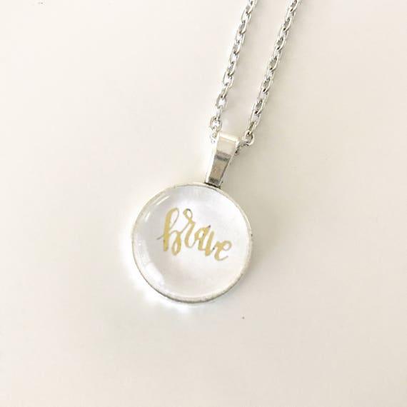 Catholic Jewelry * Catholic Pendant Necklace * Mini Pendant Necklace * Handlettered Pendant Necklace * Gifts for Her