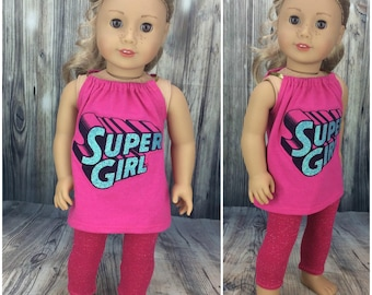 18 inch doll clothes AG doll clothes super pajamas made to fit dolls like american girl. Includes leggings