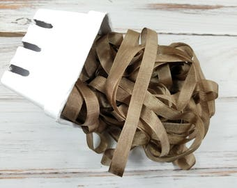5 yards Tobacco Brown Seam Binding. Packaging, Scrapbooking, Shabby Pretty Embellishment
