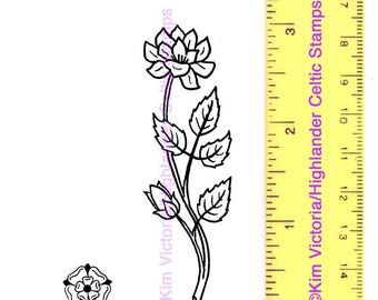 Celtic Garden Rose and Mini Rose English and Scottish Symbol Unmounted Rubber Stamps