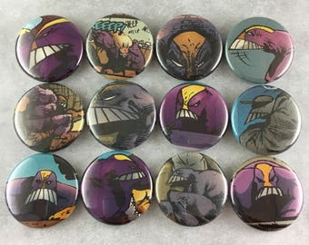 12 pcs, The MAXX, Pinback Buttons, or Magnets, 25mm Size, Superhero, Jungle Queen, Geeky Nerdy, Gift, Flair, Bookbag, Comic Book, Lot #4