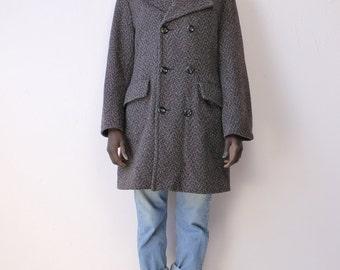 Double Breasted Vintage Tweed Coat
