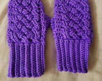 Beautiful hand crochet fingerless gloves