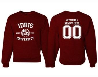 IDRIS University Shadowhunters The Mortal Instruments Sweatshirt