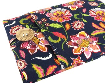 """Women's Laptop Sleeve Case 15.6"""" - Custom Sized To Your 15 Inch Laptop - Padded With Pocket, Cute Floral Fabric"""