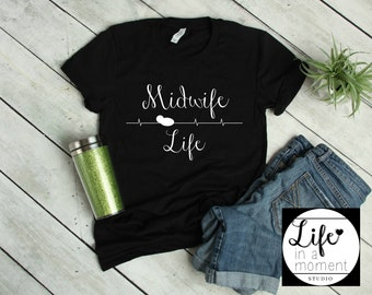 CNM Midwife Nurse Tshirt, PNM, Midwife Gift, Registered Nurse Midwife, Labor Delivery Nurse, Doula Gift, Obgyn, Midwifery Tee, CNM Shirt,