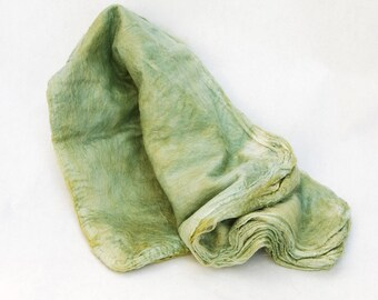 Mawatas Silk Hankies Medium Yellow Green - 18 grams