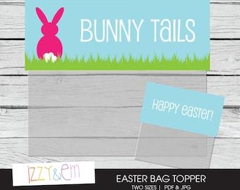 Easter poem easter gift tag printable gift tag kids bunny tails bag top easter treat bag toppers easter favor tag printable bag negle Choice Image