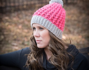Instant Download- Crochet Pattern- Appleton Hat