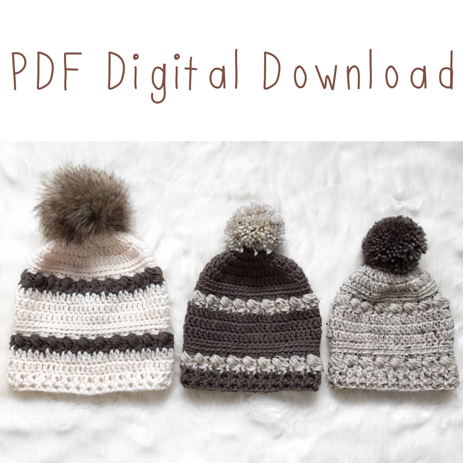 The Fireside Beanie PDF DIGITAL Crochet Pattern Crochet