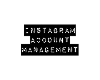 Instagram Account Management Service / Social Media Manager