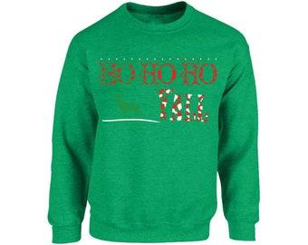 Ho Ho Ho Yall Sweatshirt Ugly Christmas Sweatshirt Yall Sweater Funny Christmas Sweater Santa Sweatshirt Santa Sweatshirt Holiday Sweatshirt