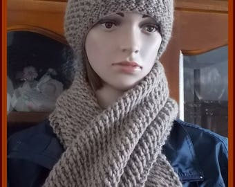 Pure wool hat and scarf set pattern