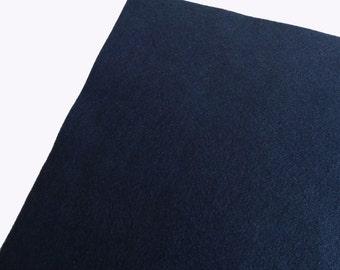 Fieltro de color azul noche, rollo fieltro, Tamaño 25 cm x 90 cm, fieltro muy suave al tacto, fieltro acrilico, fieltro de gran calidad