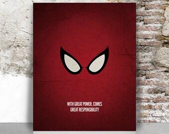Spiderman print, Spiderman poster, Superhero wall art, Marvel, Comic art, Home Decor Gift for him, FamouStars