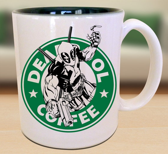 Killer coffee mug for the killer Deadpool lover in your life? Yes. Please.
