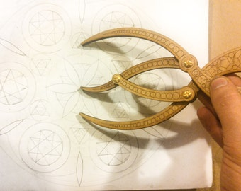 Golden Ratio Calipers Sacred Geometry Spiral Artist Tools