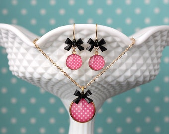 Jewelry chain earrings Polka dots Dots