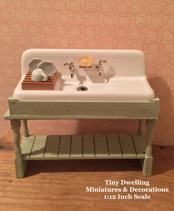 Dollhouse Kitchen Sink Miniature sink dish sink dollhouse kitchen sink dollhouse workwithnaturefo