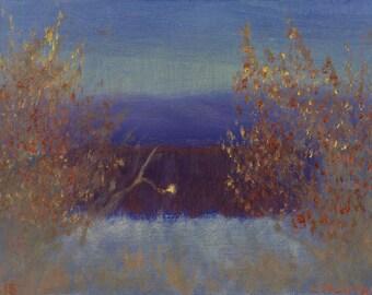 "Greeting Card, New Mexico Landscape Series, ""El Rito Morning Light #2"""