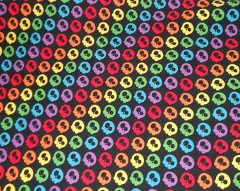 Custom knit fabric, rainbow skulls, stars, mini-stars, rainbow stars, black stars, white stars, red stars, orange stars