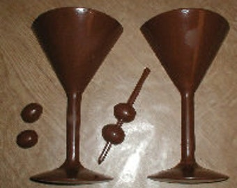 Martini Glass  3D Chocolate Mold