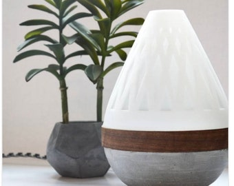 Teardrop Lamp - 3D printed, concrete multiple colour lamp