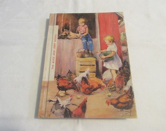 """Alice and Jerry Book """"Day In and Day Out"""" Children's Book Vintage 1957 Reader"""