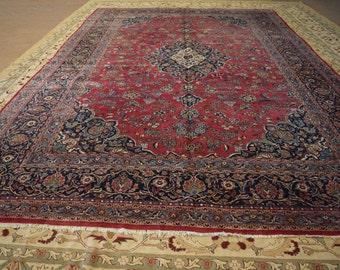 Large Size Antique Persian Kashan rug
