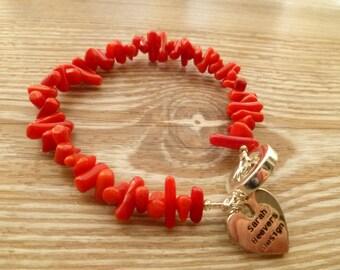 Red Coral Bracelet UK made